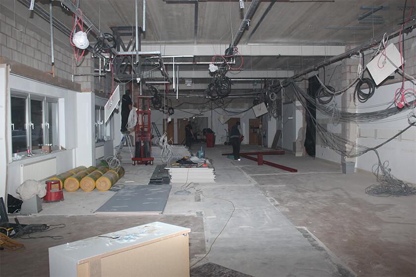 Part of the ground floor as refurbishment works get under way