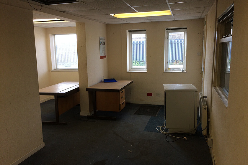 In dire need of refurb - office space before transformation